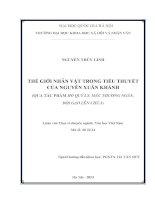 Thế giới nhân vật trong tiểu thuyết của Nguyễn Xuân Khánh (qua tác phẩm Hồ Qúy Ly, Mẫu Thượng ngàn, Đội gạo lên chùa