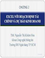 Bài giảng Tin học ứng dụng Chương 2 - ThS. Nguyễn Thị Khiêm Hòa