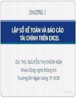 Bài giảng Tin học ứng dụng Chương 1 - ThS. Nguyễn Thị Khiêm Hòa