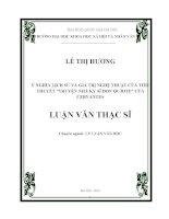 Ý nghĩa lịch sử và giá trị nghệ thuật của tiểu thuyết Truyện nhà kỵ sỹ Đon Qujote  của Cervantes