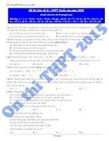 04 Đề thi thử THPT quốc gia môn Hóa học 12
