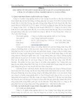 BÁO CÁO VỀ ĐẶC ĐIỂM VỀ TỔ CHỨC KINH DOANH VÀ QUẢN LÝ KINH DOANH Ở CÔNG TY CỔ PHẦN CÔNG NGHIỆP DỊCH VỤ CAO CƯỜNG