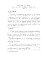 SKKN MỘT SỐ KINH NGHIỆM TRONG VIỆC GIÚP ĐỠ HỌC SINH YẾU LỚP 5
