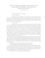 SKKN MỘT VÀI KINH NGHIỆM VỀ  PHƯƠNG PHÁP DẠY CHƯƠNG PHÂN SỐ TRONG MÔN TOÁN LỚP 4
