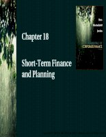 Chapter 18 short term finance and planning