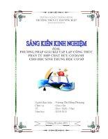 SKKN Các phương pháp lập công thức phân tử của hợp chất hữu cơ dành cho học sinh THCS