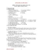Đồ án động cơ đốt trong ( tính toán động cơ diezen)