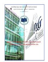 Nghiên cứu và phân tích chiến lược kinh doanh của Công ty P & G trên phạm vi toàn cầu