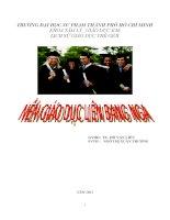 Tiểu luận môn Lịch sử giáo dục thế giới TÌM HIỂU VỀ GIÁO DỤC LIÊN BANG NGA