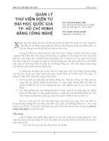 QUẢN LÝ THƯ VIỆN ĐIỆN TỬ ĐẠI HỌC QUỐC GIA TP. HỒ CHÍ MINH BẰNG CÔNG NGHỆ