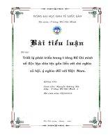 """Phân tích luận điểm Hồ Chí Minh """"tất cả các dân tộc trên thế giới đều sinh ra bình đẳng, dân tộc nào cũng có quyền sống, quyền sung sướng và quyền tự do"""". Liên hệ với Việt Nam hiện nay"""