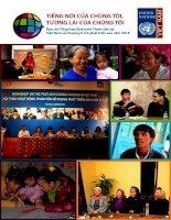 TIẾNG NÓI CỦA CHÚNG TÔI, TƯƠNG LAI CỦA CHÚNG TÔI Báo cáo Tổng hợp Quá trình Tham vấn tại Việt Nam về Chương trình phát triển sau năm 2015
