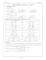 Công thức tích phân và tổng hợp các bài tích phân hay