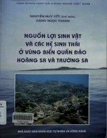 Nguồn lợi sinh vật và các hệ sinh thái ở vùng biển quần đảo Hoàng Sa và Trường Sa