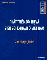 Phát triển đô thì và biến đổi khí hậu ở Việt Nam