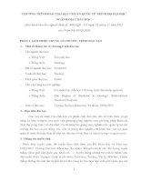 CHƯƠNG TRÌNH ĐÀO TẠO ĐẠT CHUẨN QUỐC TẾ TRÌNH ĐỘ ĐẠI HỌC NGÀNH ĐỊA CHẤT HỌC