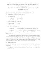 CHƯƠNG TRÌNH ĐÀO TẠO CHẤT LƯỢNG CAO TRÌNH ĐỘ ĐẠI HỌC NGÀNH HẢI DƯƠNG HỌC