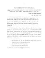 BÀI báo NCKH  NGHIÊN CỨU HIỆU QUẢ XỬ LÝ NƢỚC THẢI AO NUÔI THỦY SẢN   BẰNG CÔNG NGHỆ MBBR – MOVING BED BIOFILM REACTOR.