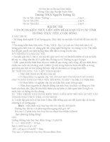Bài thi liên môn Toán của học sinh THCS