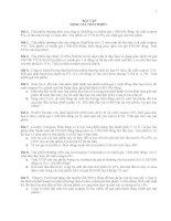 CHƯƠNG 5 BÀI TẬP ĐỊNH GIÁ TRÁI PHIẾU TCDN1