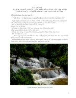 Bài thi liên môn giới thiệu danh lam thắng cảnh địa phương: Thác Mây (Thạch Lâm   Thạch Thành)