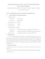 CHƯƠNG TRÌNH ĐÀO TẠO CHẤT LƯỢNG CAO TRÌNH ĐỘ ĐẠI HỌC NGÀNH KHÍ TƯỢNG HỌC