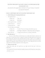 CHƯƠNG TRÌNH ĐÀO TẠO CHẤT LƯỢNG CAO TRÌNH ĐỘ ĐẠI HỌC NGÀNH THỦY VĂN