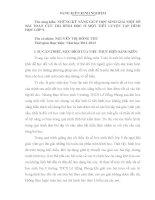 NHỮNG KỸ NĂNG GIÚP HỌC SINH GIẢI MỘT SỐ BÀI TOÁN CỰC TRỊ HÌNH HỌC Ở MỘT TIẾT LUYỆN TẬP HÌNH HỌC LỚP 9