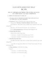 LUẬN CHỨNG KINH TẾ KỸ THUẬT  DỰ ÁN   ĐẦU TƯ MỞ RỘNG HỆ THỐNG NHÀ XƯỞNG SẢN XUẤT  CÁC THIẾT BỊ TỪ VẬT LIỆU COMPOSITE