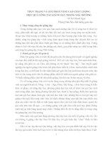 THỰC TRẠNG VÀ GIẢI PHÁP NÂNG CAO CHẤT LƯỢNG HIỆU QUẢ CÔNG TÁC GIẢNG DẠY TRONG NHÀ TRƯỜNG