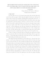 """MỘT SỐ BIỆN PHÁP GIẢNG DẠY NHẰM PHÁT HUY TÍNH TÍCH CỰC CHỦ ĐỘNG HỌC TẬP CỦA SINH VIÊN QUA HỌC PHẦN """"TỔ CHỨC HOẠT ĐỘNG VUI CHƠI CHO TRẺ MẦM NON"""""""