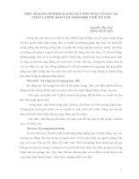 MỘT SỐ KINH NGHIỆM GIẢNG DẠY GÓP PHẦN NÂNG CAO CHẤT LƯỢNG ĐÀO TẠO THEO HỌC CHẾ TÍN CHỈ