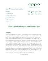 Chiến lược marketing của smartphone Oppo khi thâm nhập thị trường Việt Nam