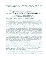 MỘT SỐ BIỆN PHÁP QUẢN LÍ CHỈ ĐẠO VIỆC DUY TRÌ SĨ SỐ TRONG NHÀ TRƯỜNG ĐẠT HIỆU QUẢ