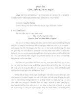 MỘT SỐ BIỆN PHÁP HƯỚNG DẪN ÁP DỤNG CHUẨN NGHỀ NGHIỆP GIÁO VIÊN MẦM NON VÀO ĐÁNH GIÁ GIÁO VIÊN.DOC