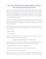 CÁC TIÊU CHÍ ĐÁNH GIÁ HỆ THỐNG QUẢN LÝ ÁP DỤNGĐỐI VỚI DOANH NGHIỆP VỪA VÀ NHỎ