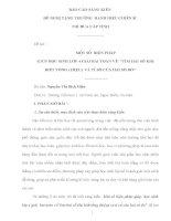 MỘT SỐ BIỆN PHÁP GIÚP HỌC SINH LỚP 4 GIẢI BÀI TOÁN VỀ TÌM HAI SỐ KHI BIẾT TỔNG ( HIỆU) VÀ TỈ SỐ CỦA HAI SỐ ĐÓ