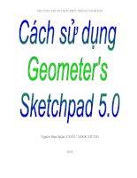 Sáng kiến kinh nghiệm cách sử dụng phần mềm Geometer's Sketchpad 5.0