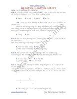 300 câu trắc nghiệm vật lý lớp 9