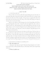SÁNG KIẾN KINH NGHIỆM MỘT SỐ BIỆN PHÁP GIÚP GIÁO VIÊN SÁNG TẠO TRONG tổ CHỨC HOẠT ĐỘNG CHUNG CHO TRẺ 4 5 TUỔI THEO CHƯƠNG TRÌNH MẦM NON MỚI