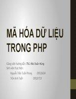 Tiểu luận môn lập trình ứng dụng web MÃ HÓA DỮ LIỆU TRONG PHP