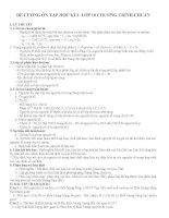 ĐỀ CƯƠNG ÔN TẬP HÓA HỌC HỌC KÌ 1 LỚP 10 CHƯƠNG TRÌNH CHUẨN