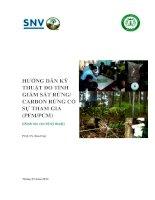 hướng dẫn ký thuật đo tính giám sát rừng ,carbon có sự tham gia pfm-pcm