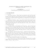 ĐÁNH GIÁ TÁC ĐỘNG CỦA THIÊN TAI ĐẾN KHU VỰC CHÂN MÂY- LĂNG CÔ