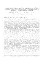 ỨNG DỤNG MÔ HÌNH TOÁN HỌC TÍNH TOÁN DỰ BÁO XU THẾ BIẾN ĐỔI CHẤT LƯỢNG NƯỚC PHỤ THUỘC VÀO CÁC KỊCH BẢN KINH TẾ XÃ HỘI LƯU VỰC SÔNG SÀI GÒN ĐỒNG NAI