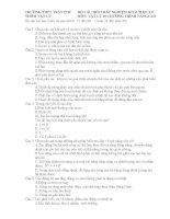 CÂU HỎI TRẮC NGHIỆM KHÁCH QUAN VẬT LÝ 10 CHƯƠNG TRÌNH NÂNGCAO
