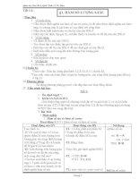 giáo án đại số  giải tích 11 cơ bản chuong i II