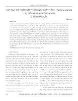 LẬP BẢN ĐỒ PHÂN CẤP THÍCH NGHI CÂY TẾCH (Tectona grandis L. f.) ĐỂ LÀM GIÀU RỪNG KHỘP Ở TỈNH ĐẮK LẮK