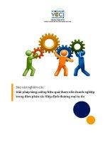 báo cáo nghiên cứu giải pháp tăng cường hiệu quả tham vấn doanh nghiệp trong đàm phán các hiệp định thương mại tự do