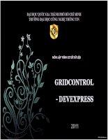 Tiểu luận môn lập trình cơ sở dữ liệu GRIDCONTROL - DEVEXPRESS